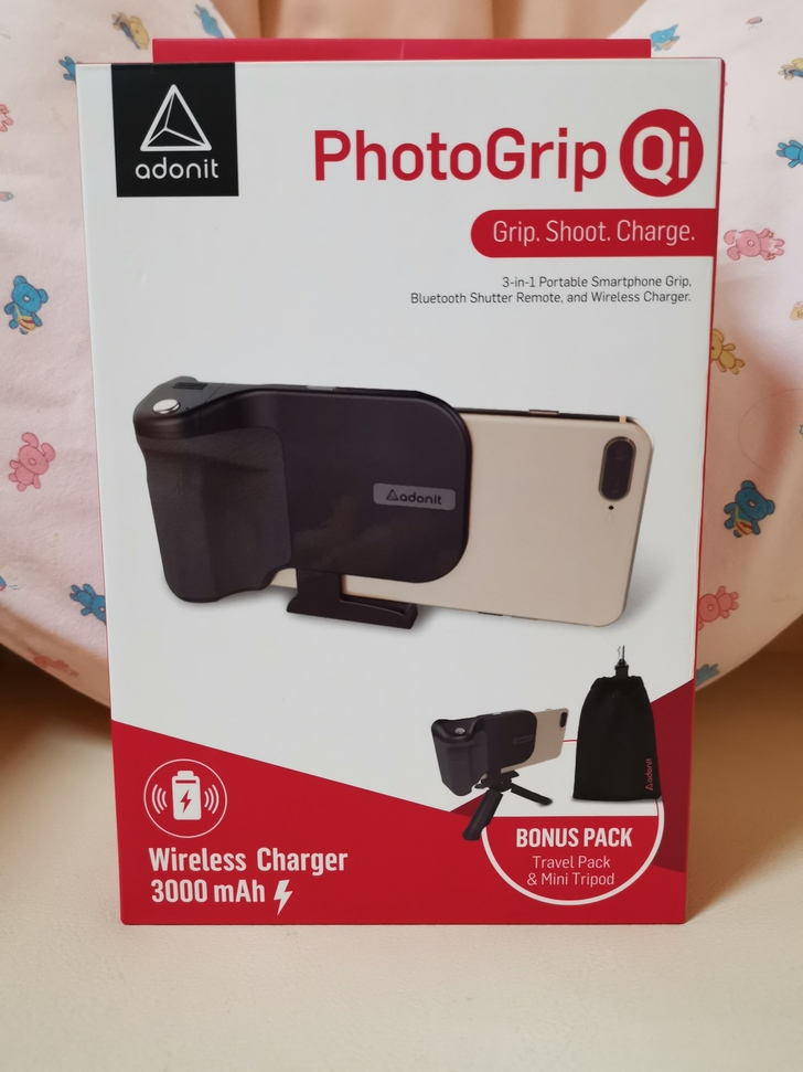 Adonit無線充電藍牙握把PhotoGrip Qi:功能三合一、拍照更便利  - 1