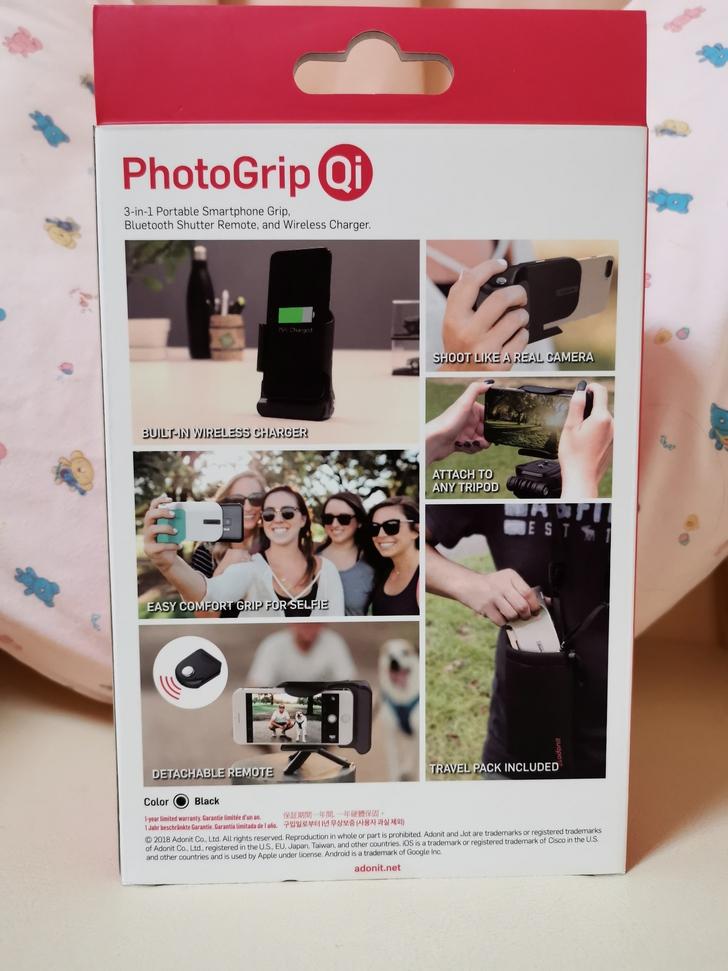 Adonit無線充電藍牙握把PhotoGrip Qi:功能三合一、拍照更便利  - 2